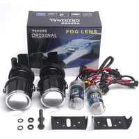 Car Styling xenon H3 Fog Lamp Hid Lamp Projector Lens Driving Lamps For Car Headlight Hid Xenon Projector Lens Kit 6000K