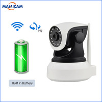HD 1080P IP WIFI Wireless Camera Built IN Battery Surveillance Video Record PTZ CCTV Onvif P2P Two Way Audio Pan 355 Night Visi