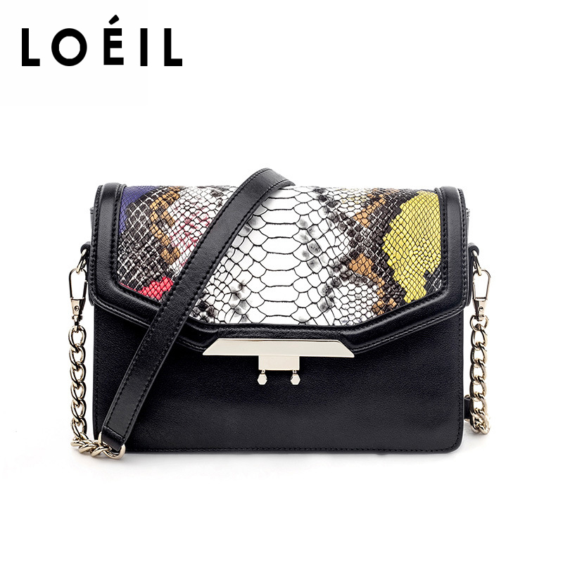 2018 new leather female bag snake pattern lock small square bag sexy dignified one shoulder slung chain bag bag female 2018 new fashion sequins convenient bread bag chain small square bag shoulder slung dinner bag