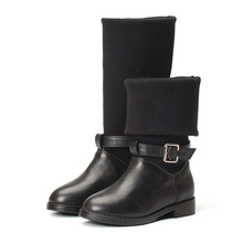 Toddler Rubber Genuine Leather Boots Knee Purecontrol Meisjes Laarzen Children Girls Knee High Boots Baby Shoes 50Y044