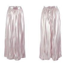 Высокая талия флуоресцентная Плиссированная Юбка До Колена Пышная юбка Удобная полиэфирная женская летняя Весенняя верхняя одежда