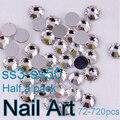 Glitter Pedrinhas SS3-SS50 Prego Arte de Cristal Pedrinhas Com Rodada Flatback Para Unhas Decorações Sacos E Roupas