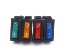 KCD3 Red Green yellow blue Button On-Off 3Pin DPST Boat Car Rocker Switch 6A/10A 250V/125VAC