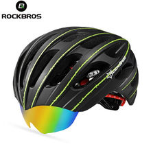 RockBros Bicycle Helmet Cycling EPS+PC Material Ultralight Mountain Bike Helmet 32 Air Vents With 3 Lenses SIZE:56-62cm