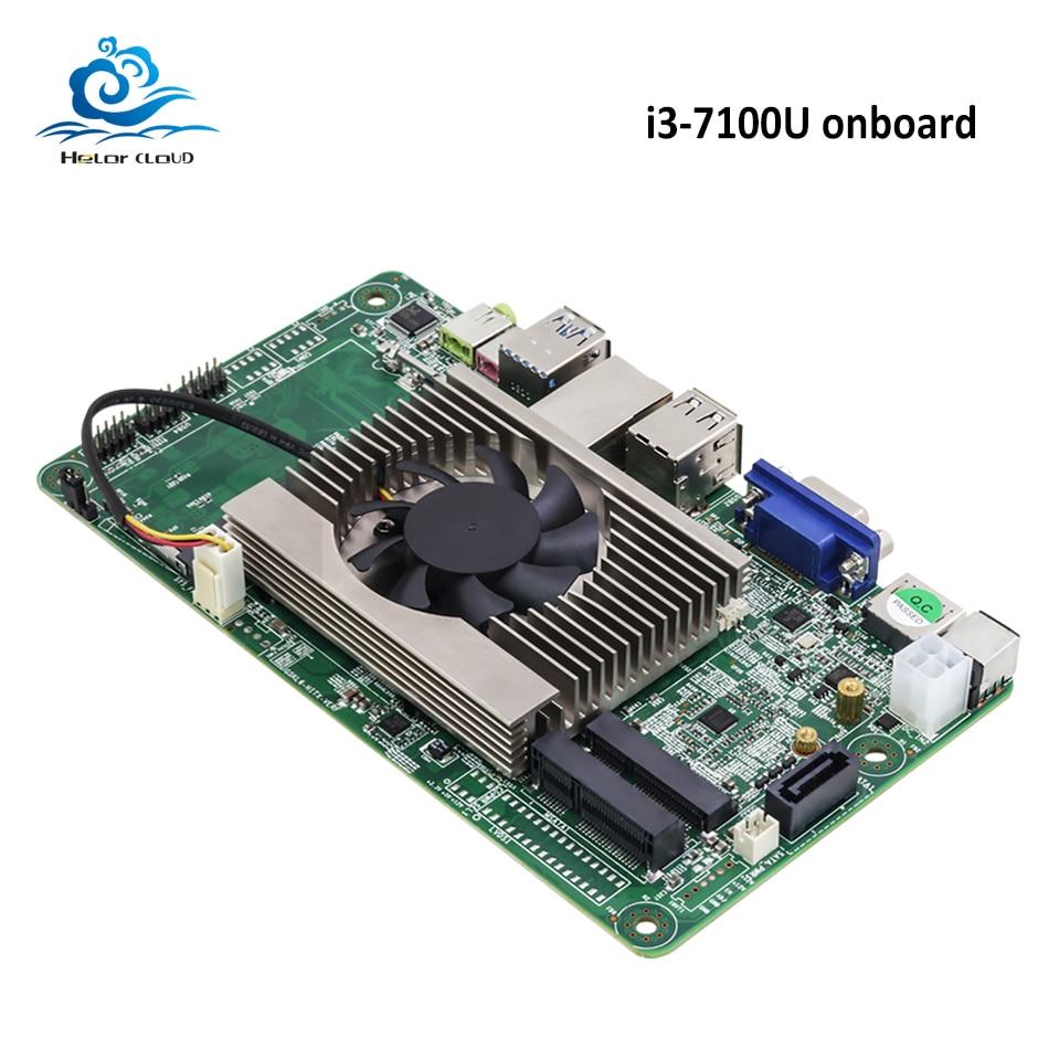 HLY Mainboard Motherboard DDR3 i3 7100U 2 4GHz HDMI VGA USB2 0 USB3 0 Mini ITX