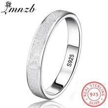 a661bf08a3d8 LMNZB par único exfoliante anillo de compromiso Original de dedo de Plata  de Ley 925 anillos para las mujeres regalo de amante j.