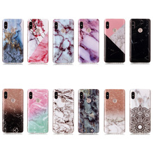 Case sFor Xiaomi Redmi Note 5 Luxury Gradient Color Marble Soft IMD Phone Cases Pro Cover
