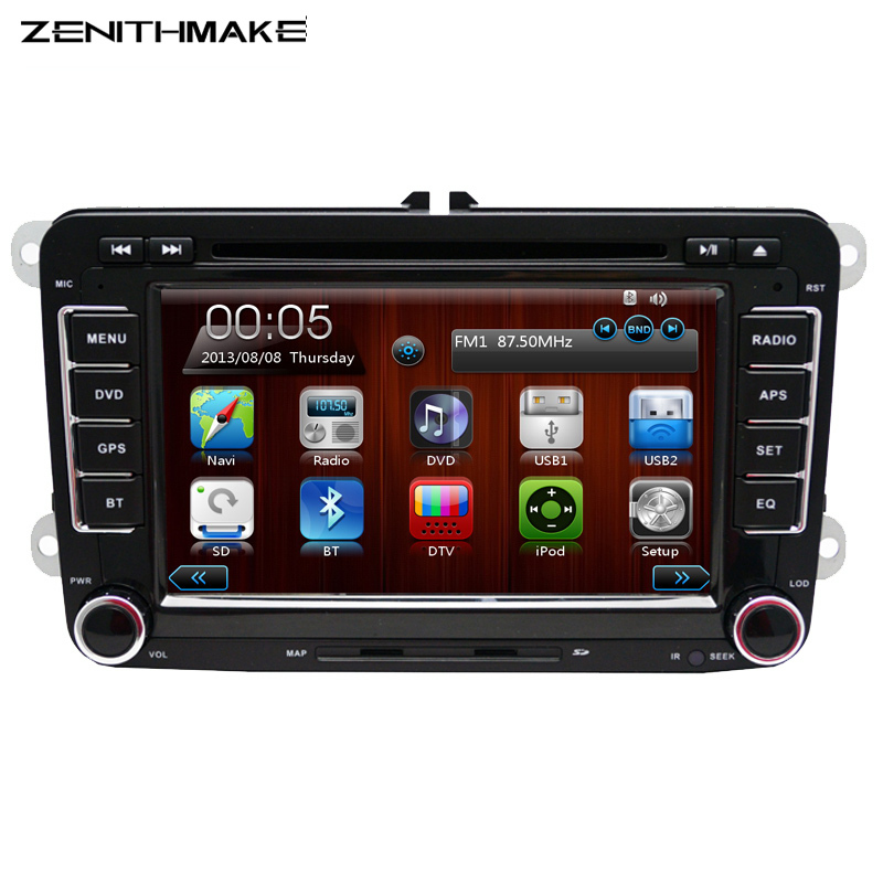 FREE SHIPPING Wholesale 2Din 7inch font b Car b font DVD Player For Volkswagen Passat POLO