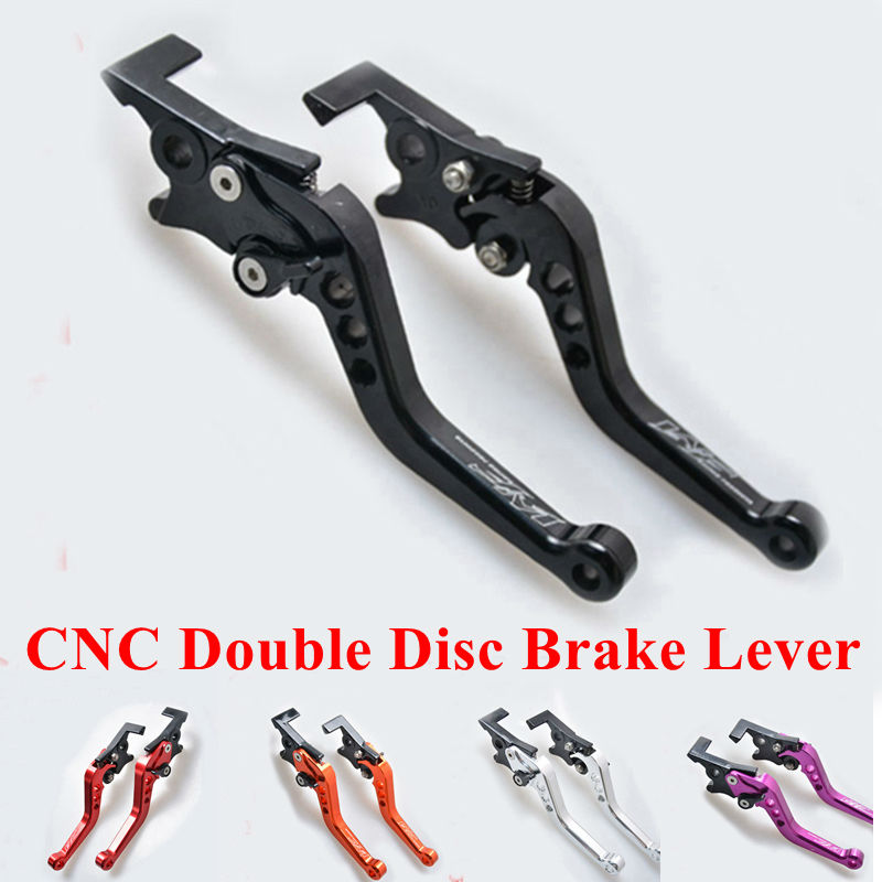 CNC Motorcycle Double Disc Brake Lever Scooter Electric Bike Modification Lever for Yamaha Honda Suzuki GY6 125 GP110 XMAX 400 scooter drum brake lever handle electric scooter biker fit most moped motorcycle level brake