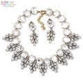 2017 chegam novas torques fashion colar jc único europa traje robusto choker colares de cristal de vidro declaração de jóias mulheres