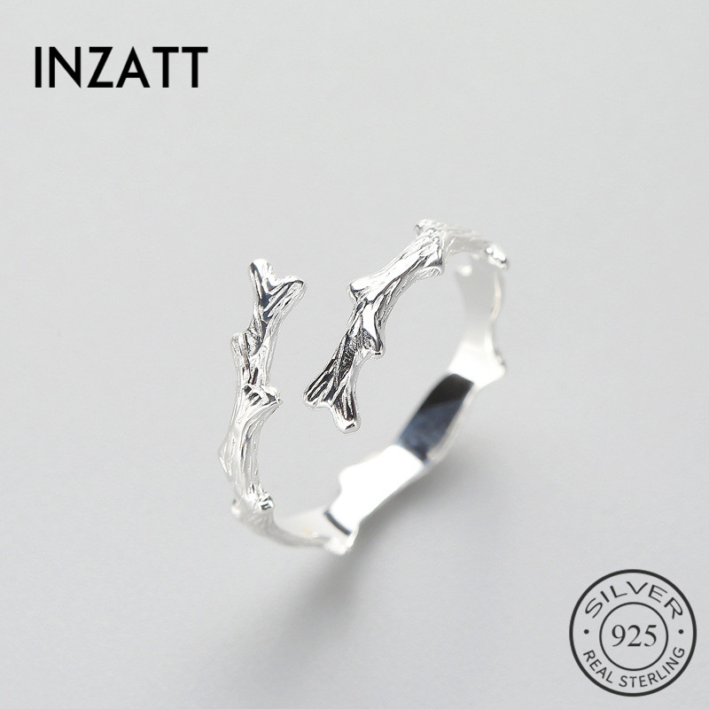 INZATT Irregular Personality Minimalist Ring Charm 925 Sterling Silver For Women Birthday Party Fashion Jewelry New 2018 Gift