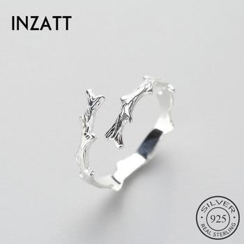 a9f4c65aff62 INZATT Irregular personalidad minimalista encanto anillo 925 Plata de ley  para las mujeres fiesta de cumpleaños joyería de moda Nuevo 2018 regalo