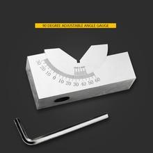 Sine Gauge Adjustable Angle Gauge Precision Angle Pad 0-60 Degree Angle Plate Block