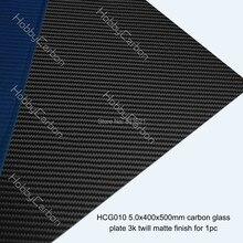 5.0mm  400x500mm  3K Carbon Glass Twill Matte Fiber Plates Sheets Panels