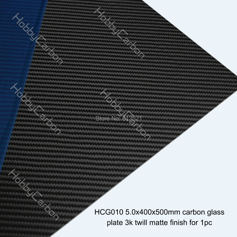 Free shipping 5.0mm 400x500mm 3K Carbon Glass Twill Matte Fiber Plates Sheets Panels 1pc free shipping 8pcs pack 25x23x600mm carbon tube 3k twill weave matte finished carbon fiber pipe
