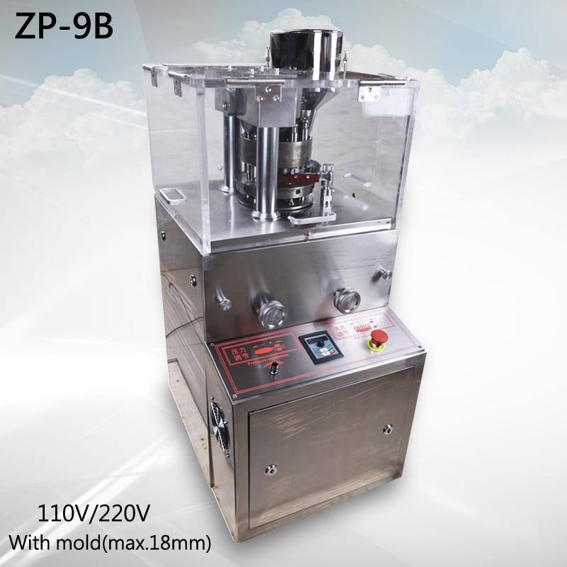 ZP-9B Vylepšený rotační tabletovací lis S tabelt press (max.18mm) Rotační tradiční čínská medicína tabletovací stroj