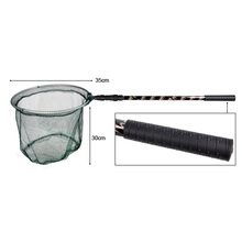 Aluminum Alloy 180cm Telescope Extending Pole Handle Fishing Brail Landing Net Tackle Folding Carp Fishing Net