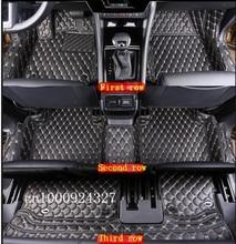 Beste teppiche! spezielle auto-fußmatten für Skoda KODIAQ 7 sitze 2017 beständigen wasserdichten salon teppiche für Kodiaq 2017, Freies verschiffen