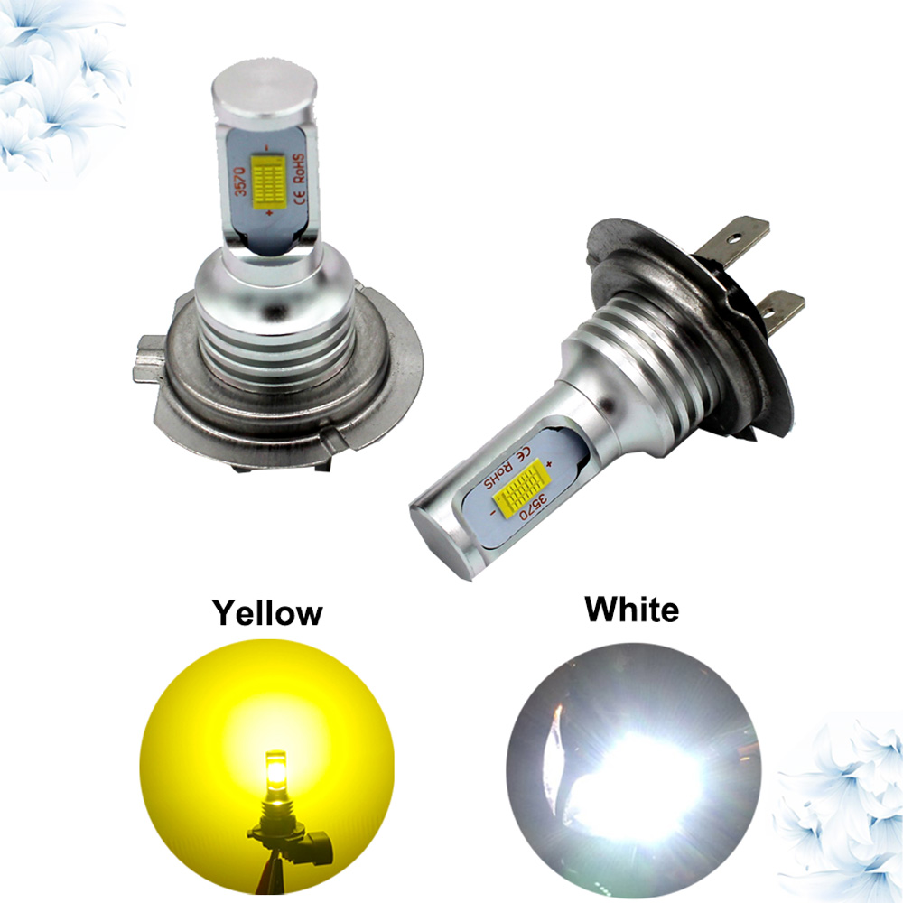 Led Fog Light Led H3 h7 24V 2000lm 12V Auto Led bulb For Honda Accord 2008 Car Lamp For Trucks Car Light Accessorie psx24 canbus new car styling auto h4 led bulb h7 lighting car led 12v lights h4 h7 led lamps light bulbs headlights for cars led headlights