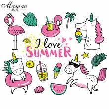 MAMAO набор железных пластырей, летняя одежда для любви, дизайн, моющиеся значки с теплопередачей, аксессуары для самостоятельной сборки, нашивки для одежды
