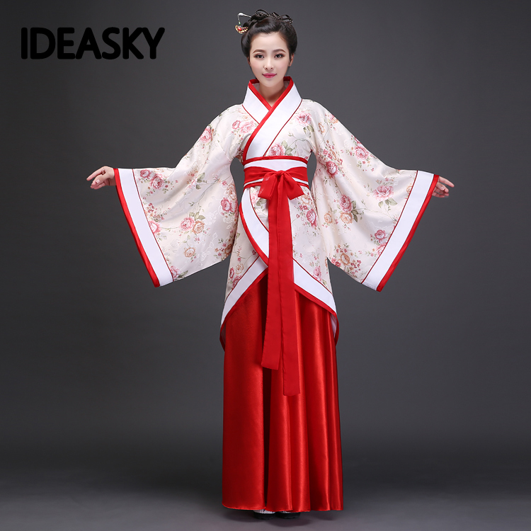 Hanfu Costume Dance Traditional Classical Chinese Folk Women Tang Male