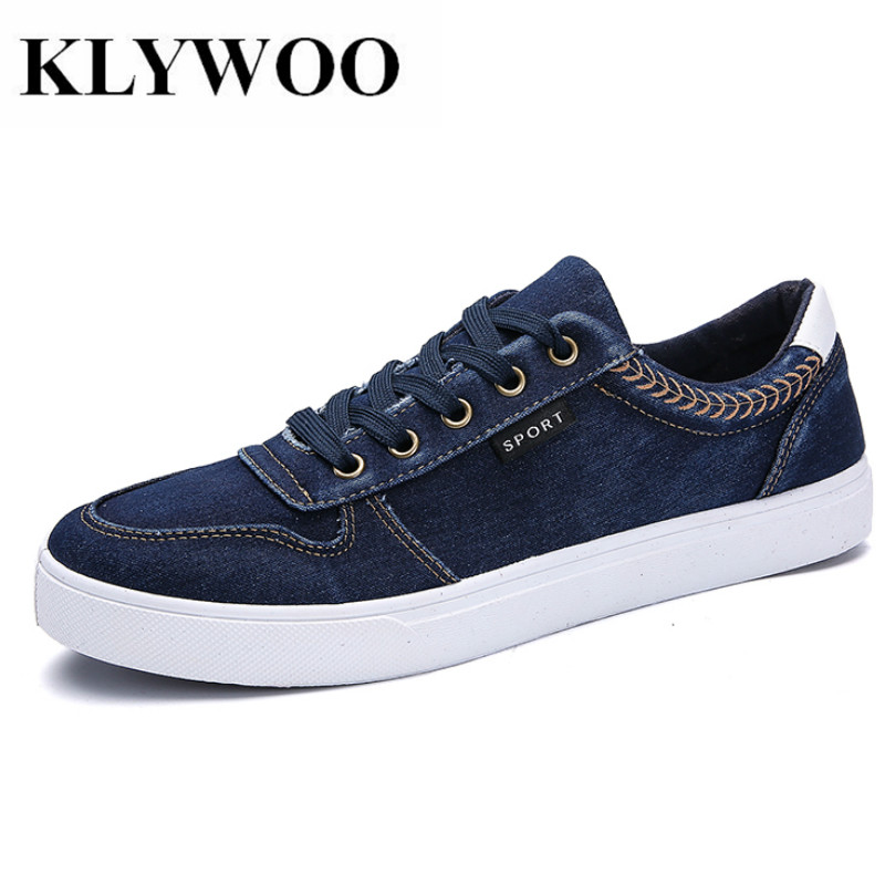 KLYWOO New Fashion Mens Casual Shoes Breathable jeans Canvas Shoes Mens Sneakers Summer Brand Luxury Fashion Mens Driving Shoes new brand fashion stretch mens jeans blue and white chinese porcelain printing jeans men casual slim fit trousers jpt003