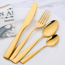 Cutlery Set 24 Pieces Stainless Steel Dinner Set Restaurant Kitchen Wedding Dining Beautiful Dinnerware Set Knives Forks