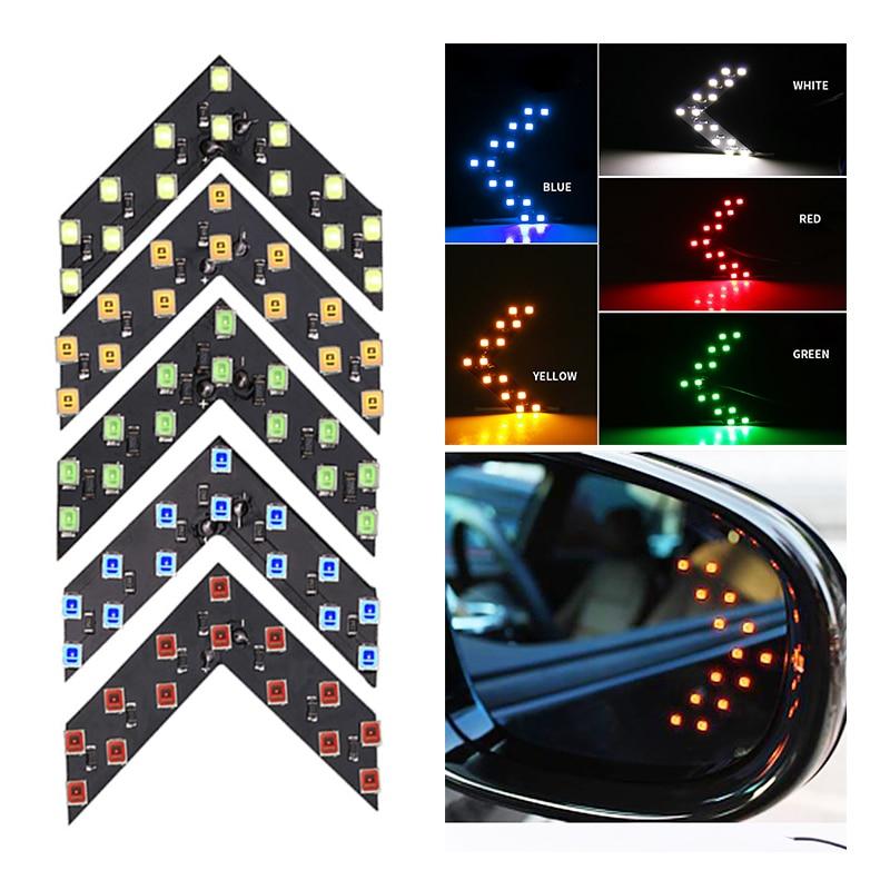 1x Car Led Decoration Light Arrow Panel Light For Car Rear View Mirror Indicator Turn Signal Light Car LED Rearview Mirror Light