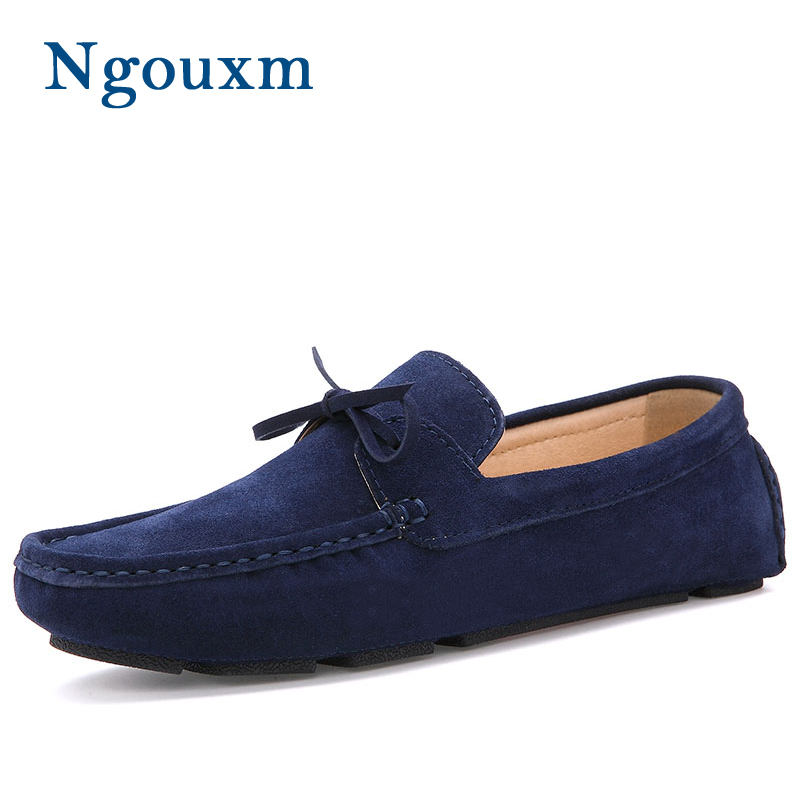 Men Loafers Moccasin hombre Casual Suede Leather Shoes Slip On Shoes Moccasins For Man homme