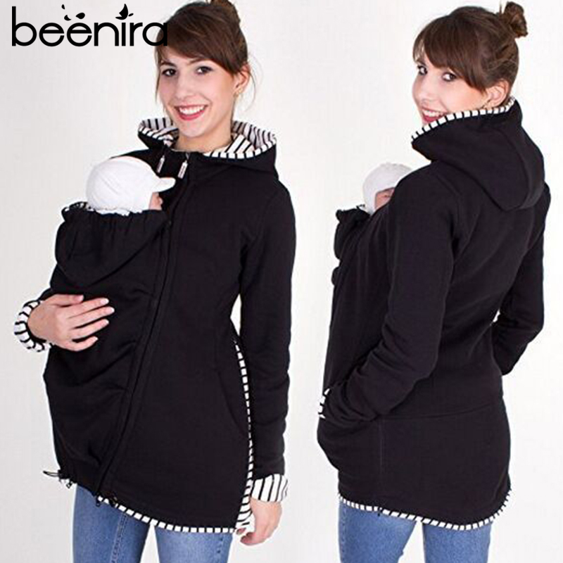 Beenira Maternity Coats Winter Jacket For Pregnant Women Outerwear Long Sleeve Solid Bring Children Outfits Clothing Jackets