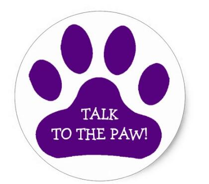Купить с кэшбэком 1.5inch Purple Paw Print Classic Round Sticker