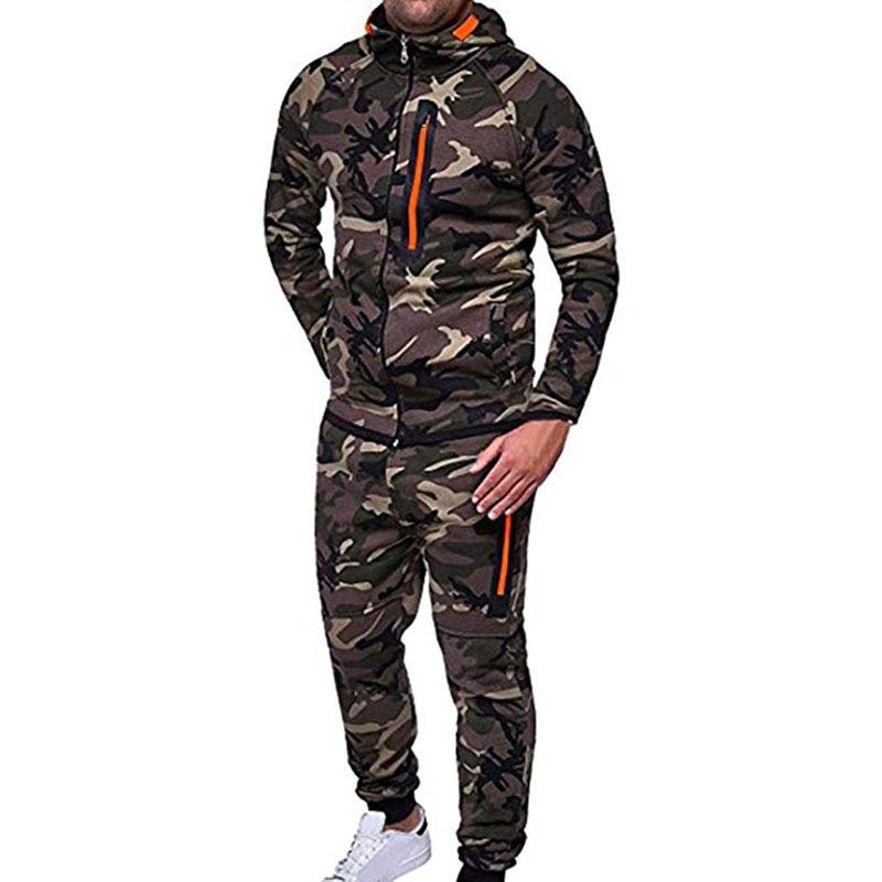Men\`s Autumn Winter Snowboarding Camouflage Top Pants Slim Sports Suit Tracksuit Hoodies Camo Suit Long Sleeves Sweatshirt (3)