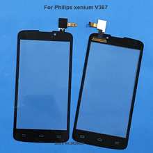 Tested For Philips Xenium V387 Touch Screen Outter Glass Lens Xenium V387 Digitizer Panel for Philips Replacement Screen