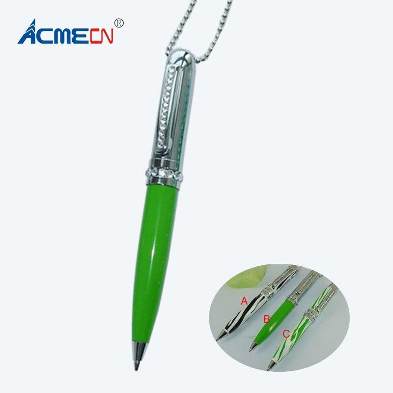 ACMECN Zebra Pattern Ball Pen with Lanyard Newest Diamond Pen Multi-color Promotional Gifts Jewellery Necklace Ballpoint Pen