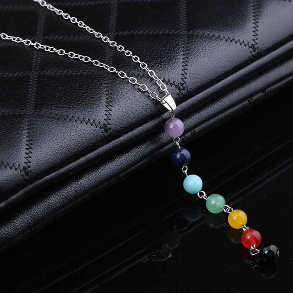 2015 Charming Jewelry Retro Colorful Seven Bohemian Beads Necklace Drop Shipping
