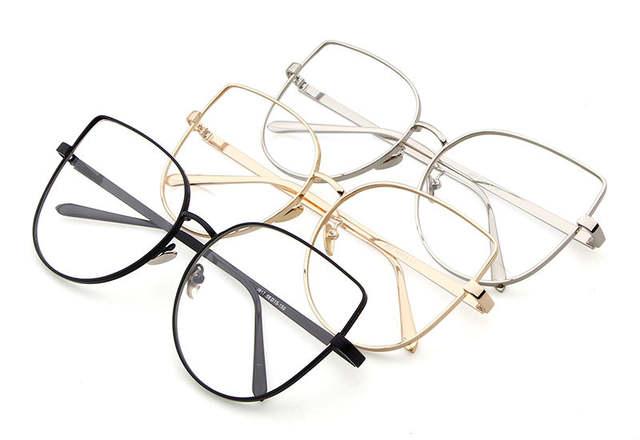 6a0b6958313 Online Shop Long Keeper Optical Glasses Men Cat Eye Eyeglasses Metal Frame  glasses 2018 Male Female Computer Work Goggles Gafas de grau