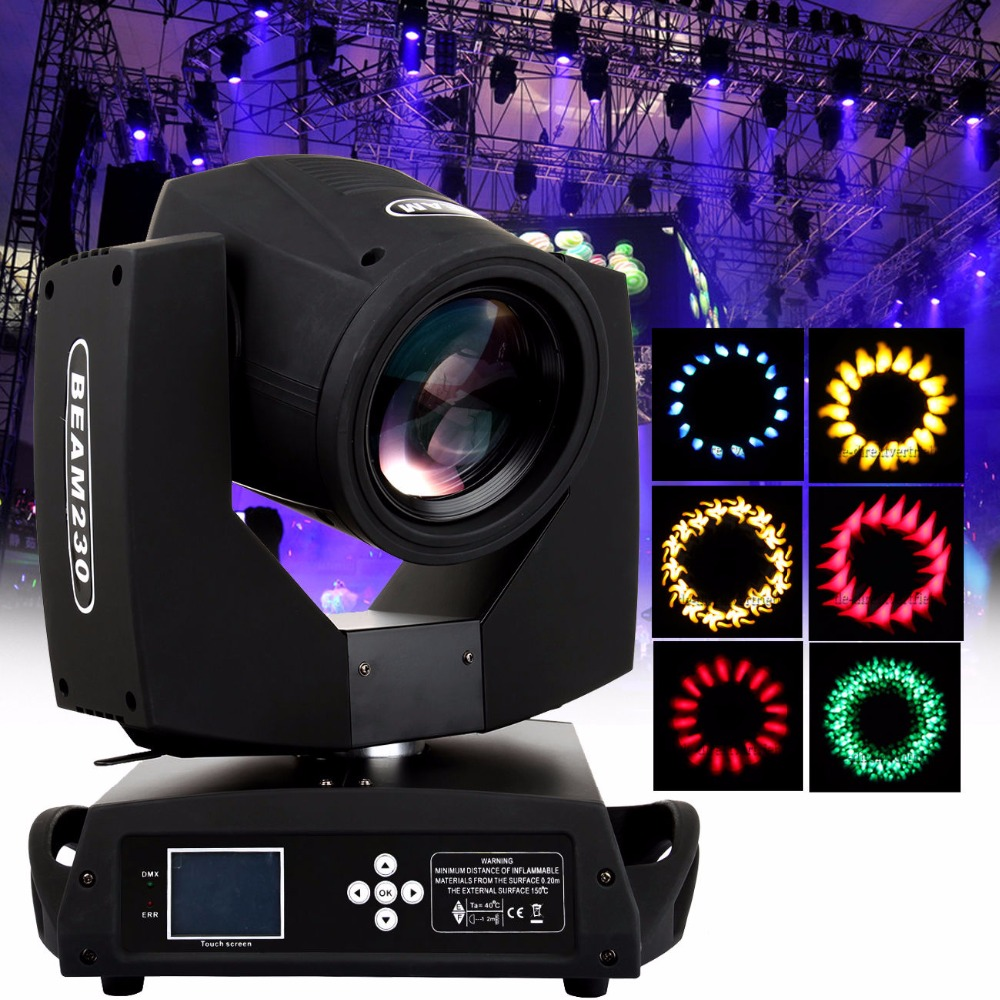230W Osram 7R Moving Head Light Zoom 16 Prism Beam Gobo DMX 16ch Party Stage lighting DJ Disco