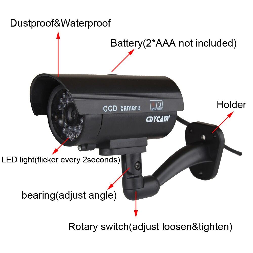 HTB1uyFodnnI8KJjSszbq6z4KFXaO Cdycam Fake Dummy Camera Bullet Waterproof Outdoor Indoor Security CCTV Surveillance Camera With Flashing Red LED Free Shipping