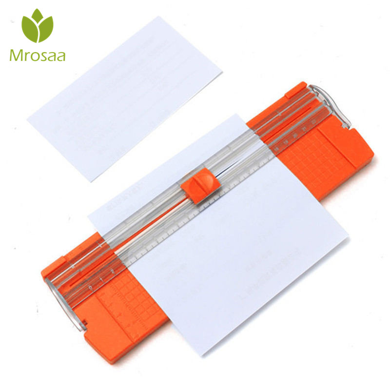 Mrosaa A4 Precision Paper Photo Trimmers Cutters Guillotine With Pull-out Ruler For Photo Labels Paper Cutting Color Random