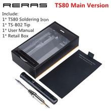 Soldering-Iron-Station Stm32-Chip Mini Ts80 OLED Programable Digital Main Type-C USB