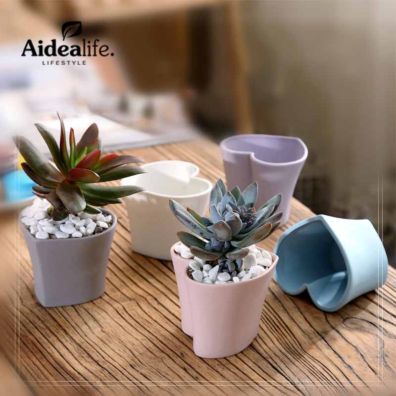 Indoor Modern Planters Home And Garden Home Decor Succulent Pot Ceramic  Mini Outdoor Planters Desk Organizer
