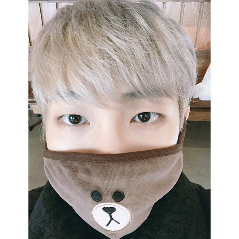 New Kpop Bts Blackpink Cotton Face Mask Same Dust Proof Warm Mask Black Women's Clothing