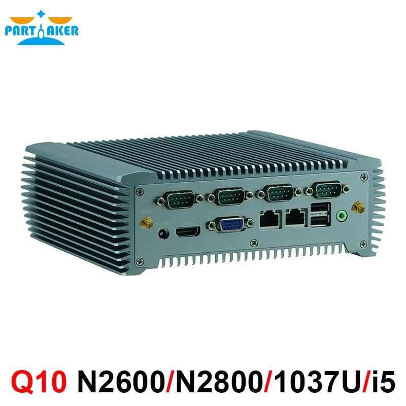 Mini Industrial Computer Mini PC Fanless PC With Intel Celeron 1037U/Intel Core I5 3317U 2*Intel 82583V Gigabit Ethernet