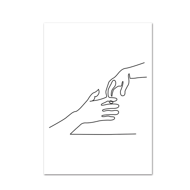 Minimalist Human Body Line Drawing Wall Art Modern Abstract Painting Family Quotes Vintage Posters Prints Living Room Home Decor Painting Calligraphy Aliexpress