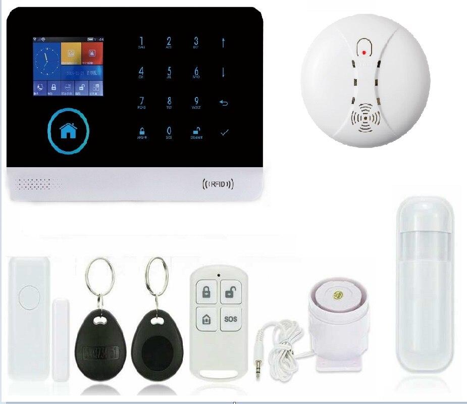 SAFEARMED G6 zones sans fil app contrôle système d'alarme GSM avec écran tactile TFT couleur affichage système d'alarme domestique PIR mouvement Senson