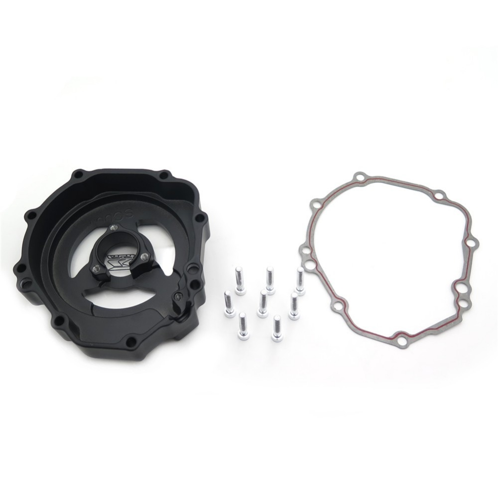 Aftermarket free shipping motorcycle accessories Engine Stator cover see through for Suzuki 2005 2006 2007 2008 GSXR 1000 CHROME aftermarket free shipping motorcycle part engine stator cover for suzuki gsxr600 750 2006 2007 2008 2009 2013 black left side