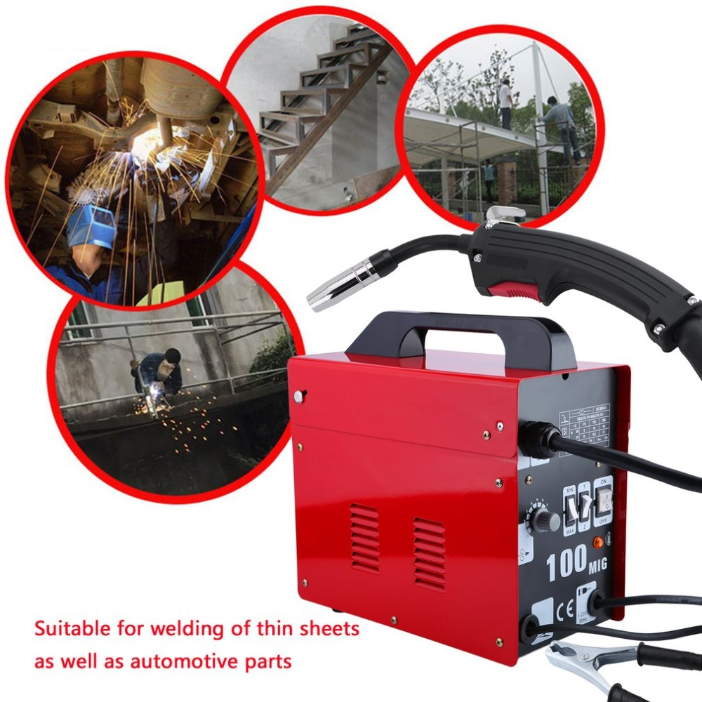 цена на Newest MIG100 Gas-Shielded Welding Machine Professional Electric Welding Machine Durable MIG Weldering Equipment EU Plug