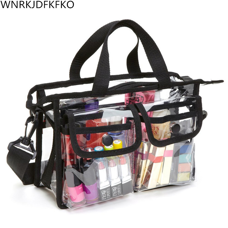 Women Clear Cosmetic Bags EVA Toiletry Bags Travel Organizer Necessary Beauty Case Makeup Bag Bath Wash Make Up Box