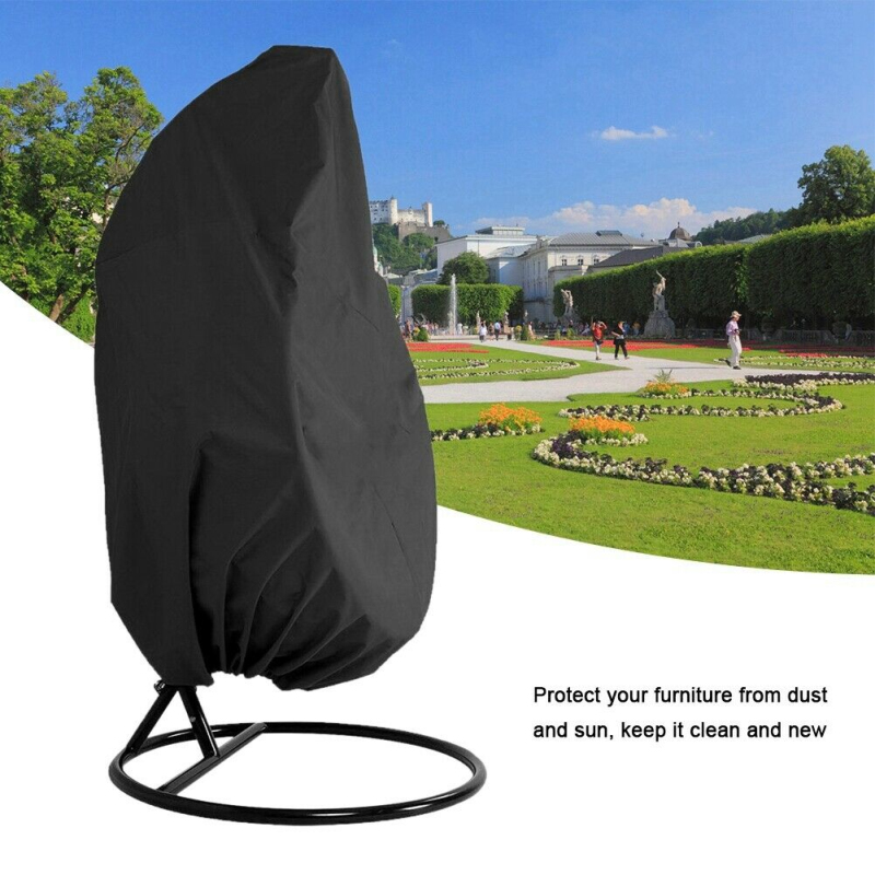 Anti-UV Waterproof Rattan Swing Patio Garden Weave Hanging Egg Chair Seat Cover Wicker Swing Seat Cover Home Hanging Organizer(China)