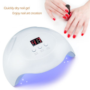 Image 5 - LKE SUNX 48/54W UV Lamp LED Nail Lamp Nail Dryer For All Gels Polish With Infrared Sensing 10s/30s/60s Timer Smart touch button